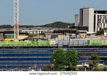 Gosford, New South Wales, Australia - October 30, 2018: Construction And Building Work On Gosford Ho