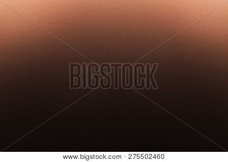 Texture Of Rough Brown Metallic Sheet In The Dark Background