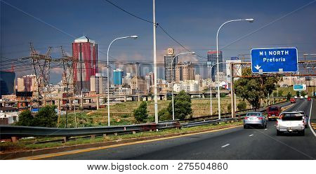Johannesburg, South Africa - December 21, 2013: South African Cities. Wonderful Streets Of Beautiful