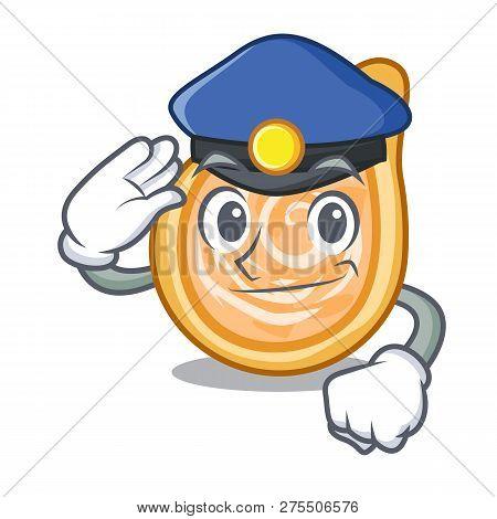 Police Chicken Coxinhas On The Table Cartoon