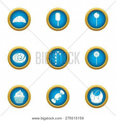Luscious Icons Set. Flat Set Of 9 Luscious Icons For Web Isolated On White Background