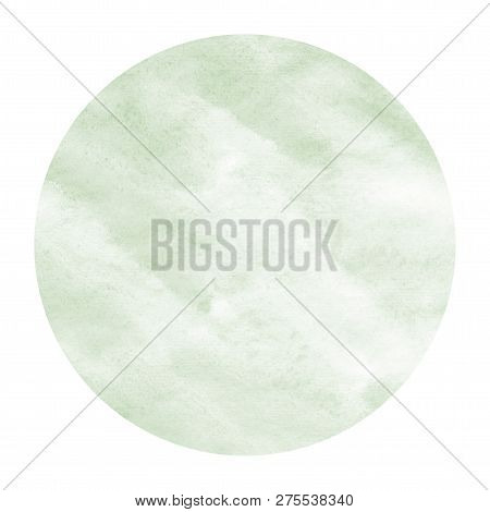 Dark Green Hand Drawn Watercolor Rectangular Frame Background Texture With Stains