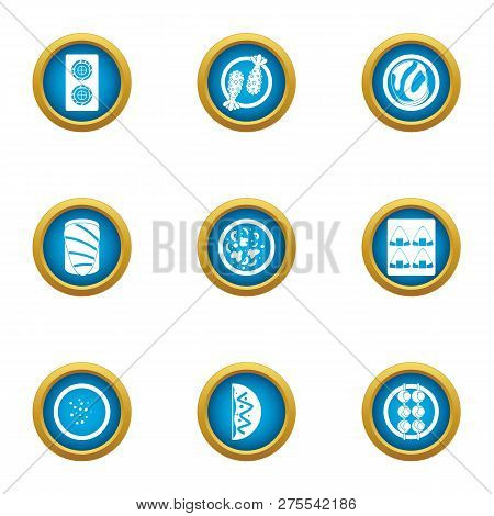 Grub icons set. Flat set of 9 grub icons for web isolated on white background poster