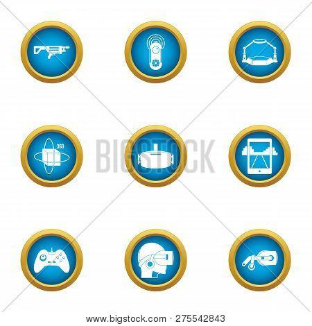 Online Training Icons Set. Flat Set Of 9 Online Training Icons For Web Isolated On White Background