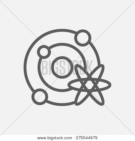 Astrophysics Icon Line Symbol. Isolated Vector Illustration Of  Icon Sign Concept For Your Web Site