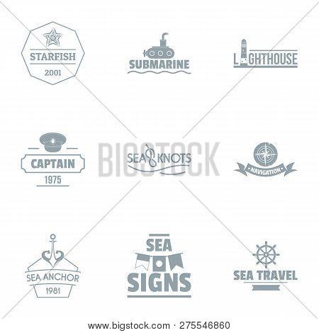 Seaside Logo Set. Simple Set Of 9 Seaside Logo For Web Isolated On White Background