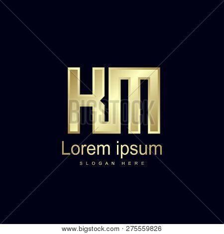 Initial Letter Km Logo Template Vector Design