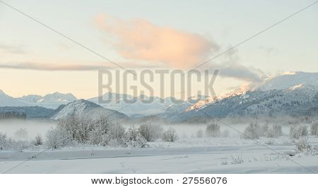 The Chilkat Valley Under A Covering Of Snow