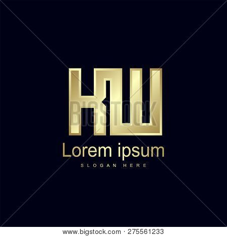 Initial Letter Kw Logo Template Vector Design