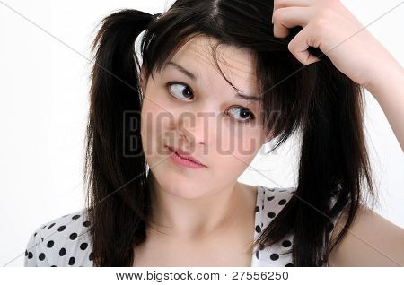 Worried Young Woman