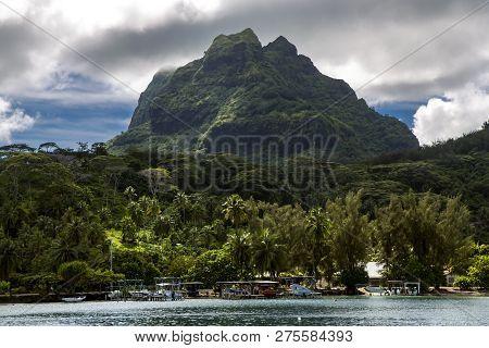 Beautiful Bora-bora Island In The Leeward Group Of The Society Islands Of French Polynesia.