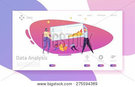Digital Marketing Analysis Report Chart Landing Page. Business Strategy Analyzing For Progress By Ch