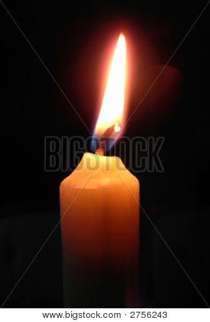 Plain White Candle