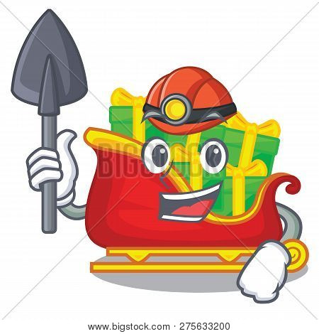 Miner Miner Santa Sleigh With Christmas Character Gifts