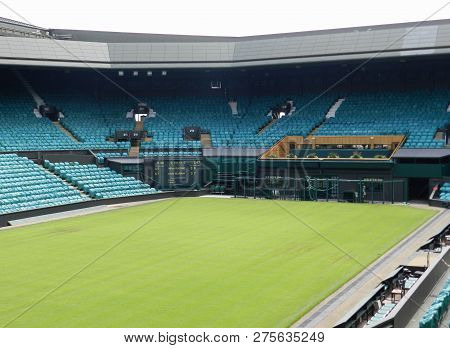 Wimbledon, United Kingdom. August 2016. Centre Court After The Championships, Murray And Raonic In T