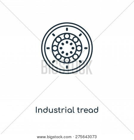 Industrial Tread Icon In Trendy Design Style. Industrial Tread Icon Isolated On White Background. In