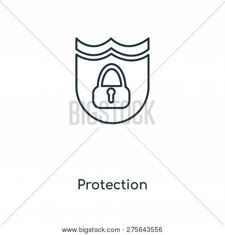Protection Icon In Trendy Design Style. Protection Icon Isolated On White Background. Protection Vec