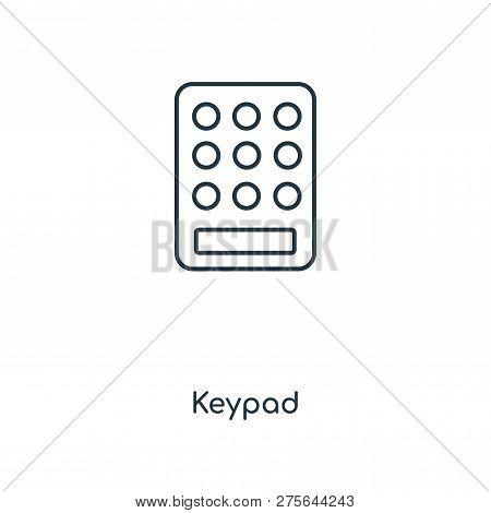 Keypad Icon In Trendy Design Style. Keypad Icon Isolated On White Background. Keypad Vector Icon Sim