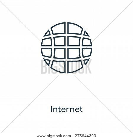 Internet Icon In Trendy Design Style. Internet Icon Isolated On White Background. Internet Vector Ic