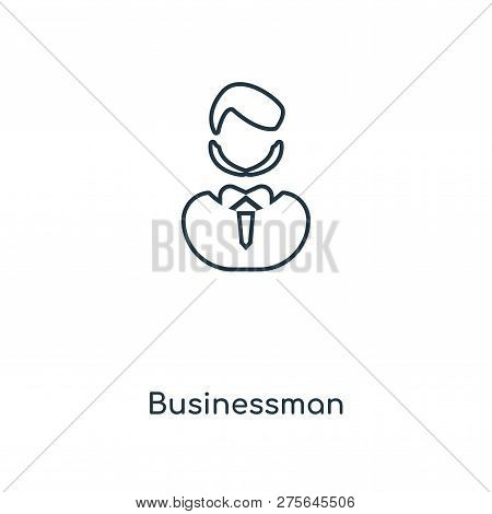 Businessman Icon In Trendy Design Style. Businessman Icon Isolated On White Background. Businessman