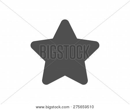 Star Icon. Best Rank Sign. Bookmark Or Favorite Symbol. Quality Design Element. Classic Style Icon.
