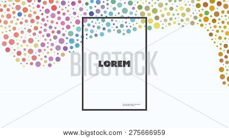 Wallpaper, Background Design For Your Business With Abstract Dotted Pattern - Creative Vector Templa