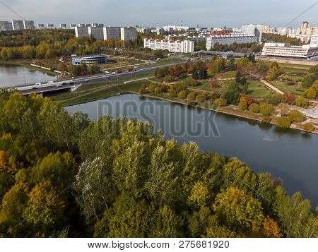 Victory Park In Zelenograd Of Moscow, Russia