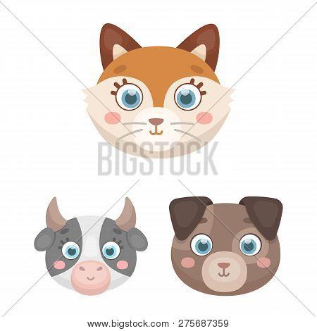 Isolated Object Of Animal And Habitat Icon. Collection Of Animal And Farm Vector Icon For Stock.