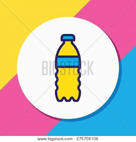 Vector Illustration Of Water Bottle Icon Colored Line. Beautiful Medicine Element Also Can Be Used A