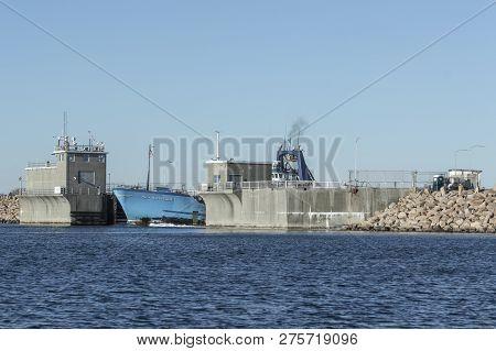 New Bedford, Massachusetts, Usa - December 26, 2018: Bow Of Commercial Fishing Boat Sea Watcher I Em