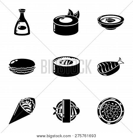 Fresh Whitefish Icons Set. Simple Set Of 9 Fresh Whitefish Icons For Web Isolated On White Backgroun