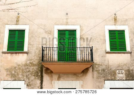 Old Building In Palma De Mallorca, Spain