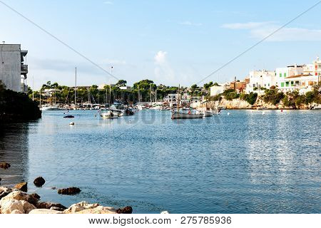 Stock Picture Of Old Mallorcan Town Porto Petro