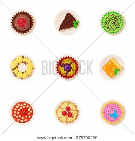 Palatable Icons Set. Cartoon Set Of 9 Palatable Icons For Web Isolated On White Background