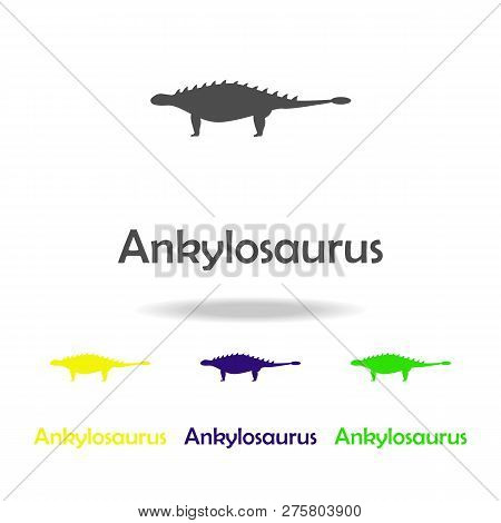 Ankylosaurs, Dinosaur Colored Icon. Can Be Used For Web, Logo, Mobile App, Ui, Ux