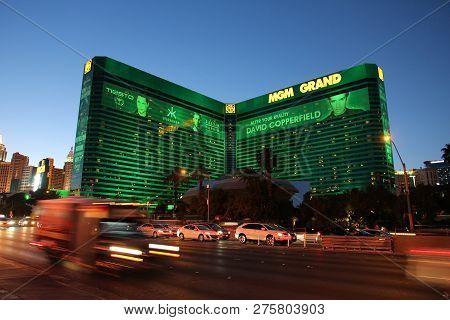 Las Vegas, Usa - April 13, 2014: Mgm Grand Casino Resort In Las Vegas. There Are 104 Casinos In Las