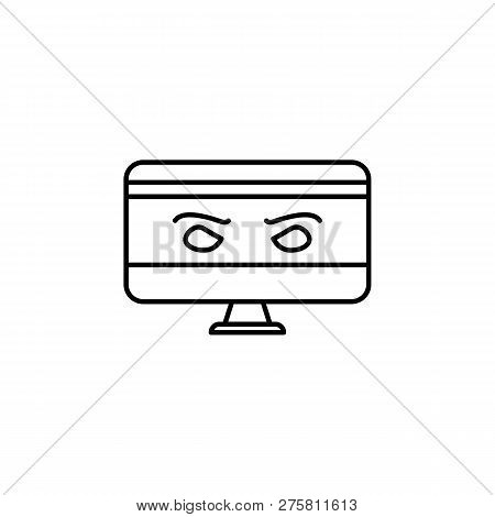 Hacker, spyware icon on white background. Can be used for web, logo, mobile app, UI, UX poster