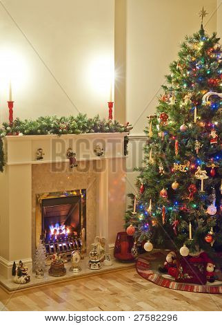 Christmas Infront Of The Fire