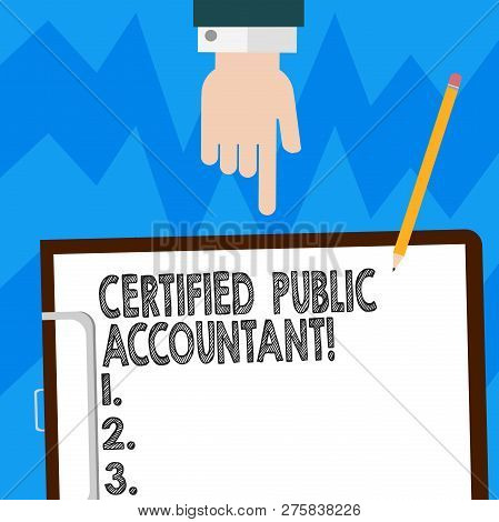 Word Writing Text Certified Public Accountant. Business Concept For Accredited Professional Body Of