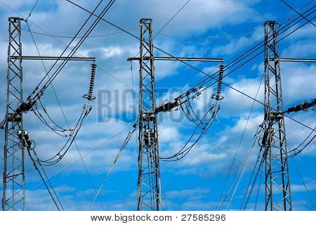 Three Electricty Pylons