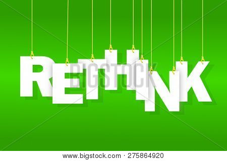 Rethink word hanging on string