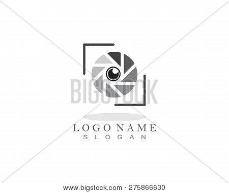 Photo Lens Logo Vector Icon