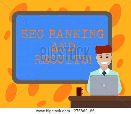Writing Note Showing Seo Ranking And Results. Business Photo Showcasing Search Engine Optimization S