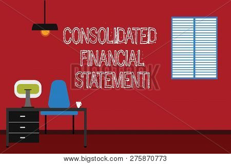 Conceptual Hand Writing Showing Consolidated Financial Statement. Business Photo Text Total Health O