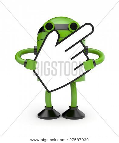 Robot with hand cursor