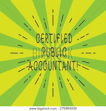 Handwriting Text Certified Public Accountant. Concept Meaning Accredited Professional Body Of Accoun