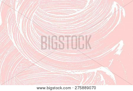 Grunge Texture. Distress Pink Rough Trace. Fresh Background. Noise Dirty Grunge Texture. Valuable Ar