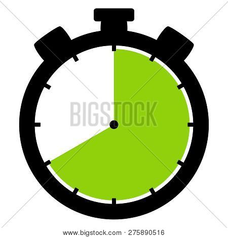Isolated Stopwatch Icon Black Green Shows 40 Seconds 40 Minutes Or 8 Hours