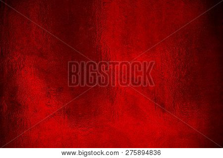 Elegant Red Very Shiny Foil Background Texture
