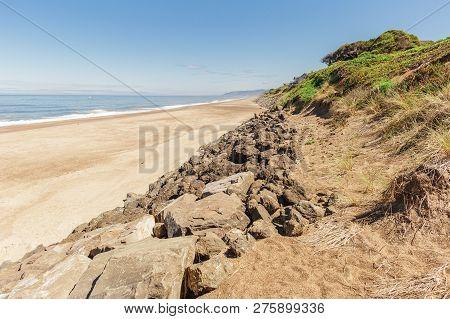 Landscape Photo Of The Pacific Ocean Coast